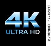 4k ultra hd format logo with... | Shutterstock .eps vector #432564964