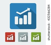 positive graph flat icon in...