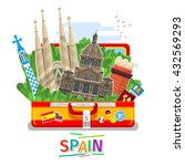 concept of travel to spain or... | Shutterstock .eps vector #432569293