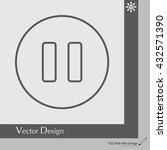 pause vector line icon | Shutterstock .eps vector #432571390