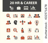 human resources  career icons  | Shutterstock .eps vector #432571678