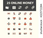 online money icons    Shutterstock .eps vector #432572284