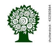 tree isolated on white...   Shutterstock .eps vector #432583864