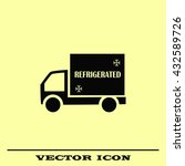 delivery sign icon  vector... | Shutterstock .eps vector #432589726