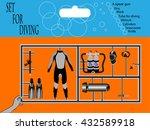 set for diving or scuba diver....   Shutterstock .eps vector #432589918