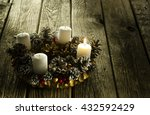 advent wreath with first... | Shutterstock . vector #432592429