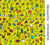 fitness seamless pattern ... | Shutterstock .eps vector #432594586