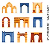 arch vector set and... | Shutterstock .eps vector #432595294