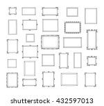 big set of hand drawn... | Shutterstock .eps vector #432597013