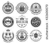 beer and brewery set of vector... | Shutterstock .eps vector #432600070