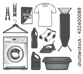 laundry room or laundry service ... | Shutterstock .eps vector #432600088
