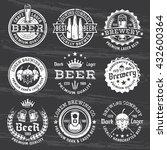 set of beer and brewery vector... | Shutterstock .eps vector #432600364