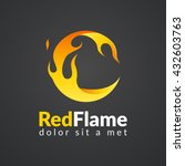 circle flame logo. | Shutterstock .eps vector #432603763
