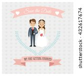 married design. wedding icon.... | Shutterstock .eps vector #432617674