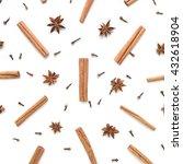 set of cinnamon  clove and star ... | Shutterstock . vector #432618904