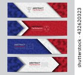 abstract flag colour banner ... | Shutterstock .eps vector #432620323