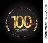 100 golden anniversary logo...   Shutterstock .eps vector #432620848