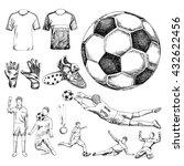 design elements of soccer.... | Shutterstock .eps vector #432622456