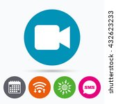 wifi  sms and calendar icons.... | Shutterstock . vector #432623233