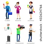 profession people. detailed... | Shutterstock .eps vector #432624766
