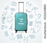 time to travel  vacation... | Shutterstock .eps vector #432624883