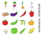 vegetables set | Shutterstock . vector #432625168