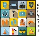 safety set | Shutterstock . vector #432625258