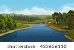 nature landscape  river  vector ... | Shutterstock .eps vector #432626110