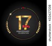 17 golden anniversary logo with ... | Shutterstock .eps vector #432627208
