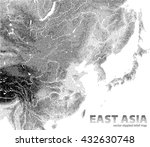 vector stippled relief map of... | Shutterstock .eps vector #432630748