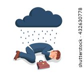 depressed  sad and frustrated... | Shutterstock .eps vector #432630778