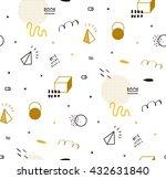 seamless geometric pattern gold ... | Shutterstock .eps vector #432631840