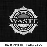 waste with chalkboard texture | Shutterstock .eps vector #432632620