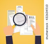 hands holding bills and... | Shutterstock .eps vector #432634510