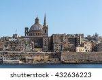 valletta cathedral  malta.  | Shutterstock . vector #432636223