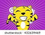 funny young tiger plush cartoon ...