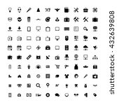 set of 100 universal icons.... | Shutterstock . vector #432639808