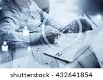 businessman working loft new...   Shutterstock . vector #432641854