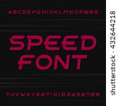 speed alphabet vector font.... | Shutterstock .eps vector #432644218