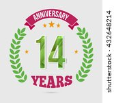 14 years anniversary with low... | Shutterstock .eps vector #432648214