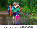 little boy and girl play in... | Shutterstock . vector #432656104