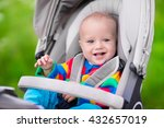 baby boy in warm colorful...   Shutterstock . vector #432657019