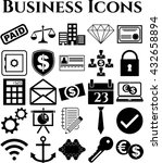 business icon set. 25 icons... | Shutterstock .eps vector #432658894