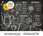 coffee restaurant brochure... | Shutterstock .eps vector #432661078