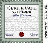 green certificate or diploma... | Shutterstock .eps vector #432663103