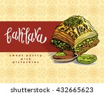 baklava is the most popular... | Shutterstock .eps vector #432665623