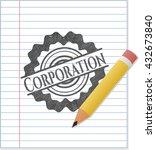 corporation draw  pencil... | Shutterstock .eps vector #432673840