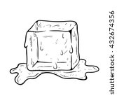 Doodle Art Ice Cube On The Water