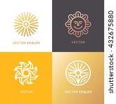 vector abstract logo design... | Shutterstock .eps vector #432675880