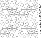 triangular seamless pattern.... | Shutterstock . vector #432679468